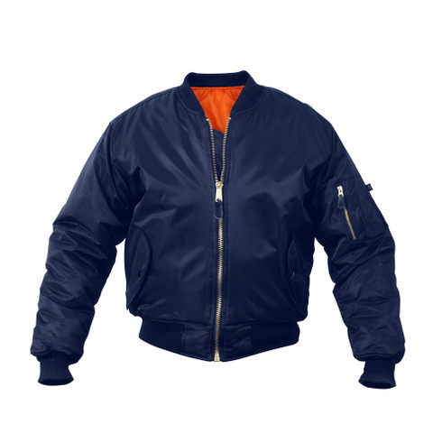 Kids Navy Blue MA-1 Flight Jackets - View