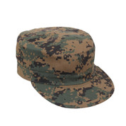 Kids Camo Woodland Digital Fatigue Caps - View