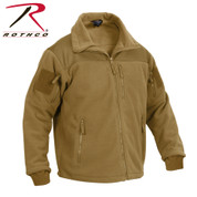 Coyote Brown Spec Ops Tactical Fleece Jacket - Right Side View