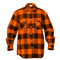 Extra Heavyweight Buffalo Orange Plaid Flannel Shirts - Full View