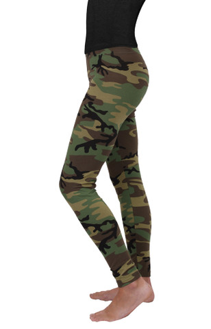 Womens Camo Leggings - Side View