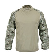 Rothco Total Terrain Camo Combat Shirt - Front View