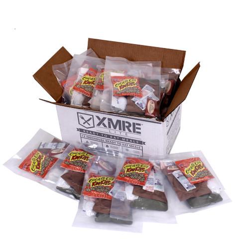 XMRE Lite Complete Meals - Open Top Case View
