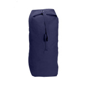 Navy Top Load Canvas Large Duffle Bag - Front View