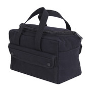 Black Mechanics Tool Bag w/ U Shaped Zipper - Side View