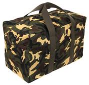 Woodland Camo Parachute Cargo Bag - View