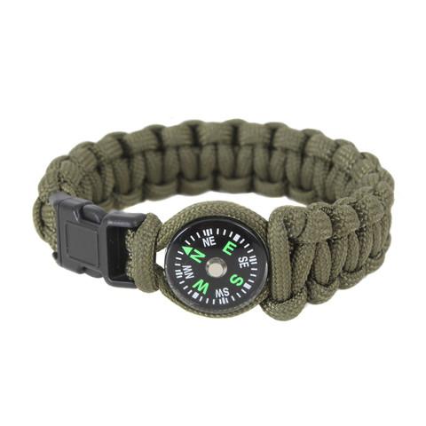 Kids Survival Compass Paracord Bracelet - View