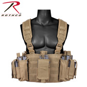 Coyote Brown Operators Tactical Chest Rig Vest - Front View