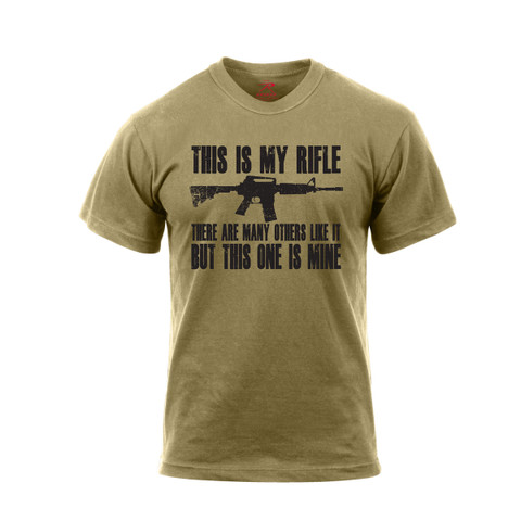 Rothco This Is My Rifle T Shirt - Front View