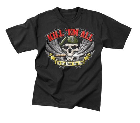 Kill 'Em All T Shirt - Front View