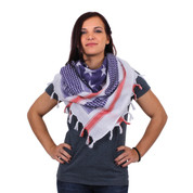 U.S. Flag Shemagh Tactical Desert Scarf - Model View
