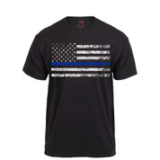 Thin Blue Line Flag T Shirt - View