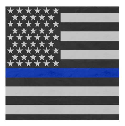Thin Blue Line Flag Bandanas - View