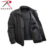 Black 3 Season Concealed Carry Jacket - Open View