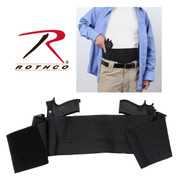Ambidextrous Concealed Elastic Belly Band Holster - Combo View