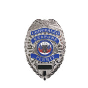 "Deluxe Silver ""Concealed Weapons Permit"" Badge - View"