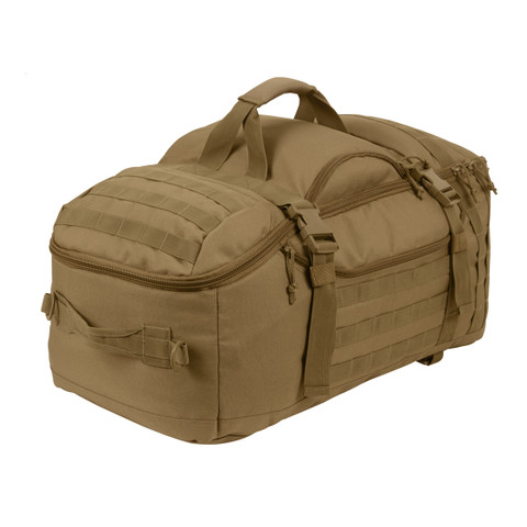 Coyote Brown 3 In 1 Convertible Mission Bag - View