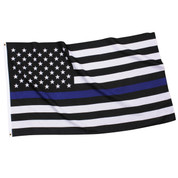 Thin Blue Line Flag - Real View