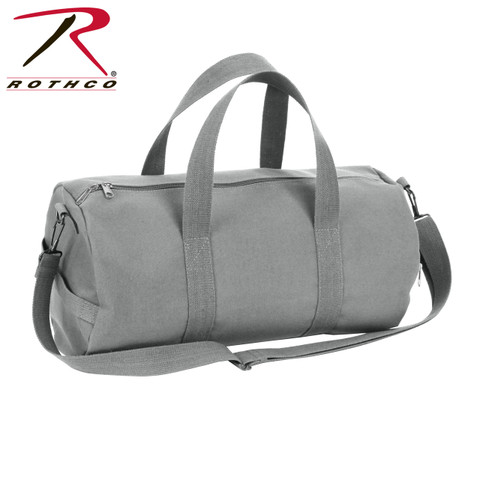 Grey Canvas Sport Bags - Rothco View