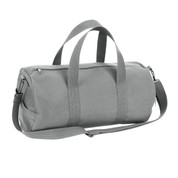 Grey Canvas Sport Bags - Front View