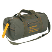 Military Style O.D. Canvas Equipment Gear Bag - Front View