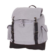 Vintage Grey Expedition Rucksack - Front View