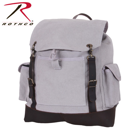 Vintage Grey Expedition Rucksack - Rothco View