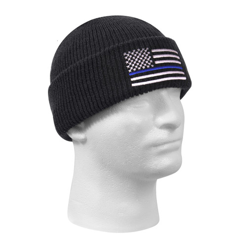 Thin Blue Line Deluxe Watch Cap - View
