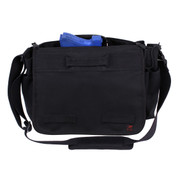 Black Concealed Carry Messenger Bag - Concealed View
