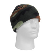 Woodland Camo Polar Fleece Watch Cap - View