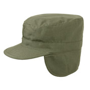 Cold Weather Army Fatigue Cap w/Ear Flaps - View