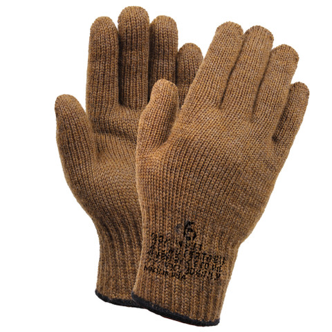 G.I. Coyote Brown Wool Liner Gloves - Combo View