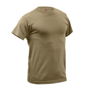 Coyote Brown Quick Dry Wicking T Shirt - Front View