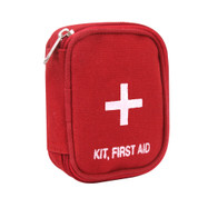 Red Zipper First Aid Kit - Front View