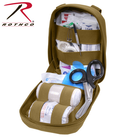 Molle Tactical First Aid Kit - Full Open View