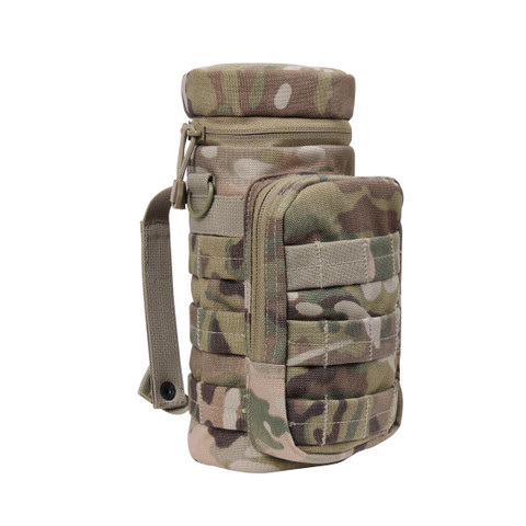 MOLLE MultiCam Compatible Water Bottle Pouch - Closed View