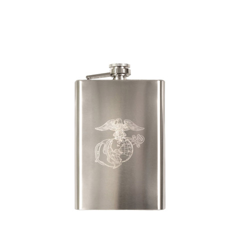 Engraved Marine Flask - View