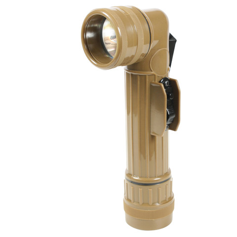 Military Angle Head D Cell Flashlight - View