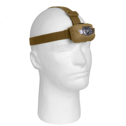 Rothco Coyote Brown LED Headlamp - View