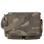 Vintage Camo Canvas Messengers Bag - View