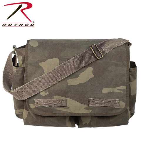 Vintage Camo Canvas Messengers Bag - Rothco View