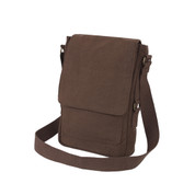 Vintage Canvas Tech iPad Netbook Bag - Brown View