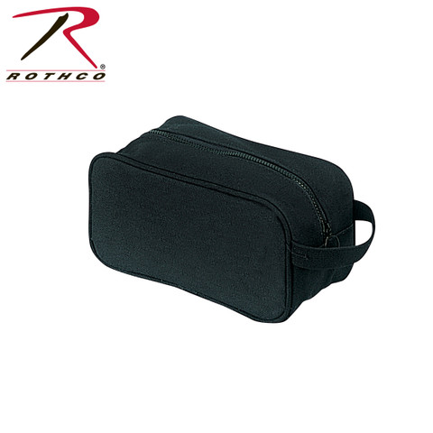 Black Canvas Travel Kit Bag - Rothco View