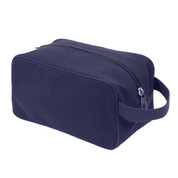 Navy Blue Canvas Travel Kit Bag - View