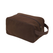 Earth Brown Canvas Travel Kit Bag - View