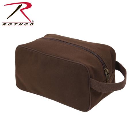 Earth Brown Canvas Travel Kit Bag - Rothco View