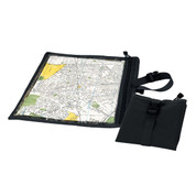 Black Travel Map & Document Case - Combo View
