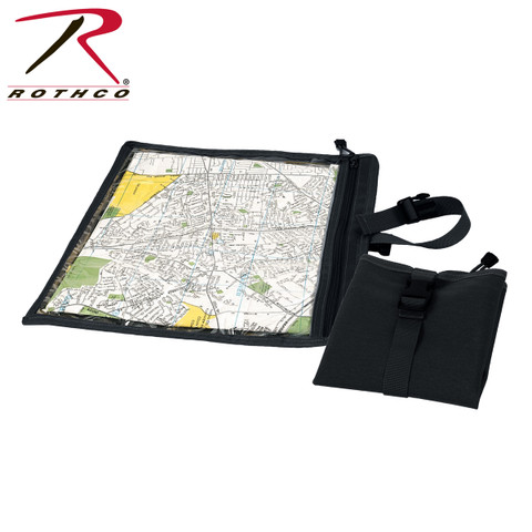 Black Travel Map & Document Case - Rothco View
