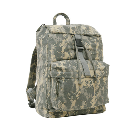 ACU Digital Camo Canvas Daypack - Side View