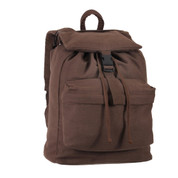 Brown Canvas Trail Daypack - View